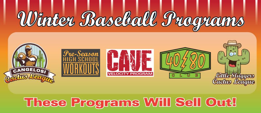 Nov – Baseball- Winter (Jan)  All Programs Slide